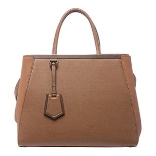 Fendi '2Jours' Medium Tan Leather Shopper Bag