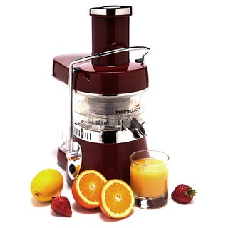 Jason Vale's Fusion Juicer Classic Red with Booster Blender and books bundle