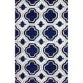 nuLOOM Hand-tufted Modern Moroccan Trellis Blue Rug (5' x 8')