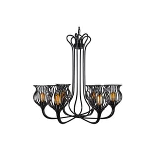 Varaluz Encaged 6-light Black Chandelier
