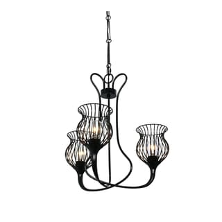 Varaluz Encaged 3-light Black Chandelier