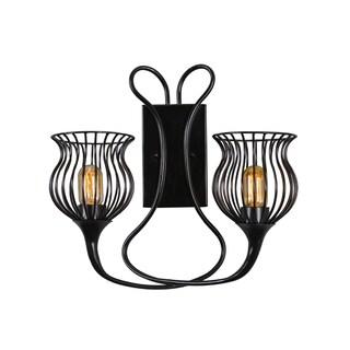 Varaluz Encaged 2-light Black Sconce