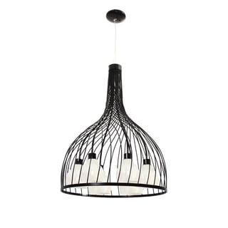 Varaluz Chianti 6-light Black Pendant