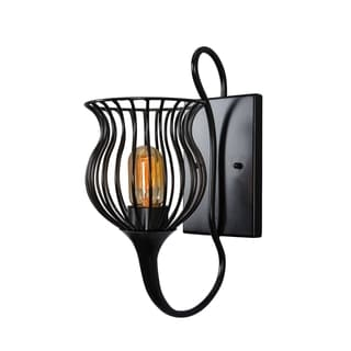 Varaluz Encaged 1-light Black Sconce