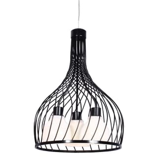 Varaluz Chianti 3-light Black Pendant