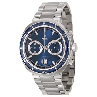 Rado Men's 'D Star' Chronograph Blue Dial Stainless Steel Watch
