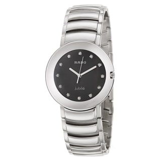 Rado Men's 'Coupole Jubile' Diamond Markers Stainless Steel Swiss Quartz Watch