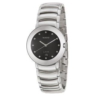 Rado Men's 'Coupole Jubile' Stainless Steel Swiss Quartz Watch