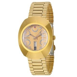 Rado Men's 'Original' Yellow Gold-Plated Hard Metal Swiss Mechanical Automatic Watch
