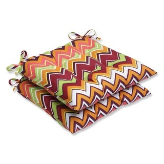 Pillow Perfect Zig Zag Wrought Iron Outdoor Seat Cushions (Set of 2)