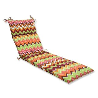 Pillow Perfect Zig Zag Chaise Lounge Outdoor Cushion