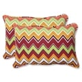 Pillow Perfect Zig Zag Over-sized Rectangular Outdoor Throw Pillows (Set of 2)