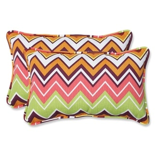 Pillow Perfect Zig Zag Rectangular Outdoor Throw Pillows (Set of 2)