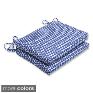 Pillow Perfect Seeing Spots Squared Corners Outdoor Seat Cushions (Set of 2)