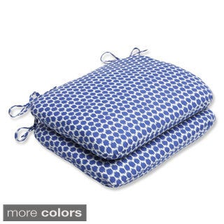 Pillow Perfect Seeing Spots Rounded Corners Outdoor Seat Cushions (Set of 2)