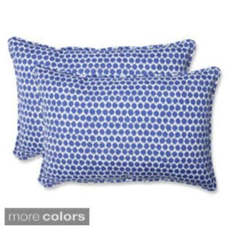 Pillow Perfect Seeing Spots Over-sized Rectangular Outdoor Throw Pillows (Set of 2)