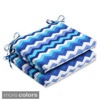 Pillow Perfect Panama Wave Squared Corners Seat Outdoor Cushions (Set of 2)