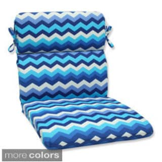 Pillow Perfect Panama Wave Rounded Corners Chair Outdoor Cushion