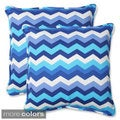 Pillow Perfect Panama Wave Rectangular Outdoor Throw Pillows (Set of 2)