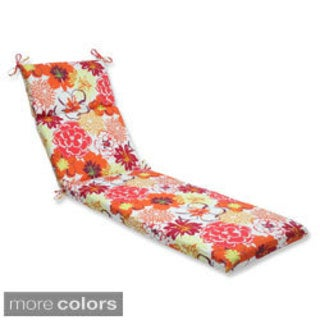 Pillow Perfect Floral Fantasy Chaise Lounge Outdoor Cushion