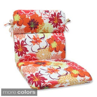 Pillow Perfect Floral Fantasy Rounded Corners Chair Outdoor Cushion