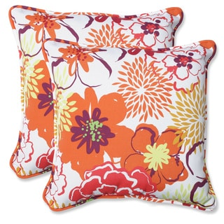 Pillow Perfect Floral Fantasy 18.5-inch Outdoor Throw Pillows (Set of 2)