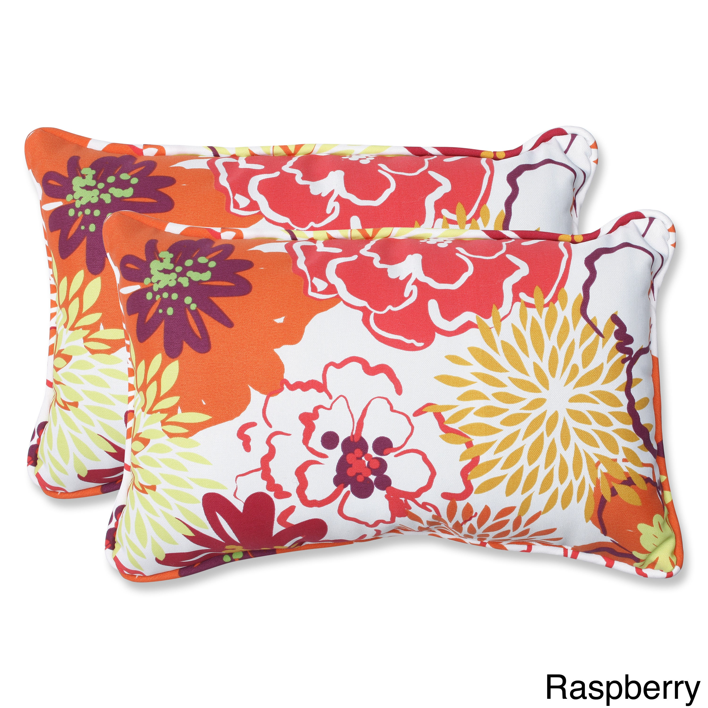 Pillow Perfect Floral Fantasy Rectangular Outdoor Throw Pillows (Set of 2) at Sears.com