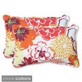 Pillow Perfect Floral Fantasy Rectangular Outdoor Throw Pillows (Set of 2)