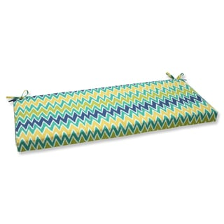 Pillow Perfect Zulu Blue/ Green Bench Outdoor Cushion