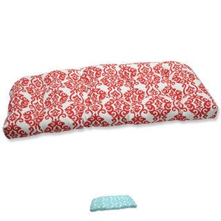 Pillow Perfect 'Luminary' Outdoor Wicker Loveseat Cushion
