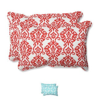 Pillow Perfect 'Luminary' Outdoor Over-sized Rectangular Throw Pillows (Set of 2)