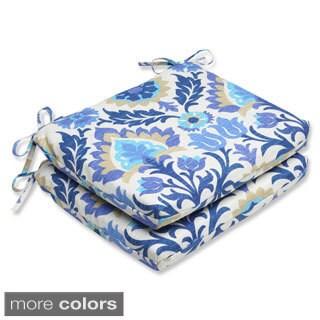 Pillow Perfect 'Santa Maria' Outdoor Squared Corners Seat Cushions (Set of 2)
