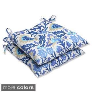 Pillow Perfect 'Santa Maria' Outdoor Wrought Iron Seat Cushions (Set of 2)
