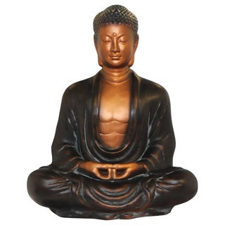 Bronze-finished Meditating Buddha Statue (Vietnam)
