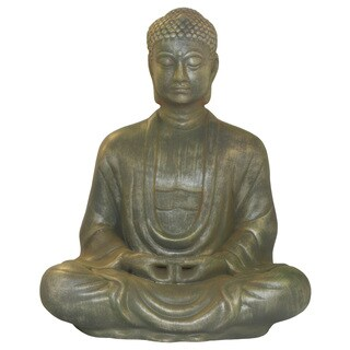 Antique Green-finished Buddha Statue (Vietnam)