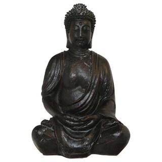 Antiqued Serene Garden Buddha Statue (Vietnam)