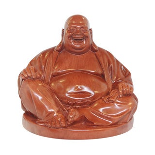 Brown-finished Happy Buddha Statue (Vietnam)