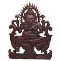 Hand-carved Ganesh Wall Hanging (Indonesia)