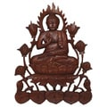 Hand-carved Suar Wood Buddha Wall Hanging (Indonesia)