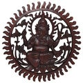 Hand-carved Wooden Ganesh Wall Hanging Art Piece (Indonesia)