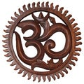 Hand-carved Sun Design Ohm Wall Hanging (Indonesia)