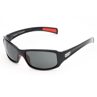 Bolle Men's 'Winslow' Shiny Black and Coral Sport Sunglasses