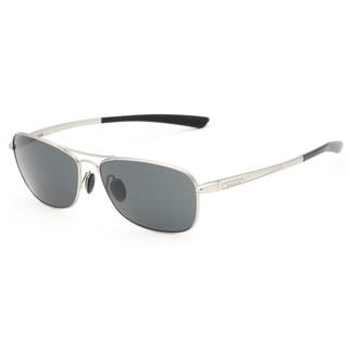 Bolle Men's 'Ventura' Satin Silvertone Aviator Sunglasses
