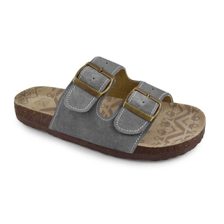 Muk Luks Women's 'Terra Turf' Grey Duo Strap Sandals