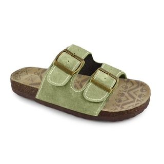 Muk Luks Women's 'Terra Turf' Light Green Duo Strap Sandals