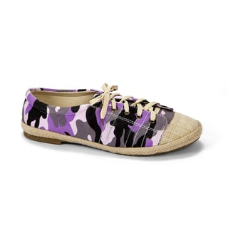 Muk Luks Women's 'Paige' Purple Camo Canvas Sneakers