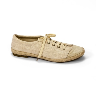 Muk Luks Women's 'Paige' Beige Canvas Sneakers