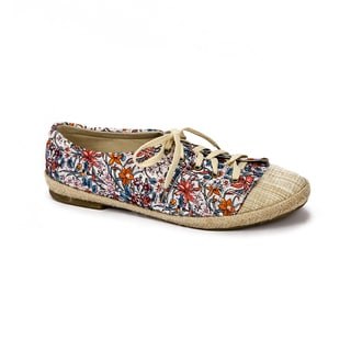 Muk Luks Women's 'Paige' Purple Floral Print Canvas Sneakers