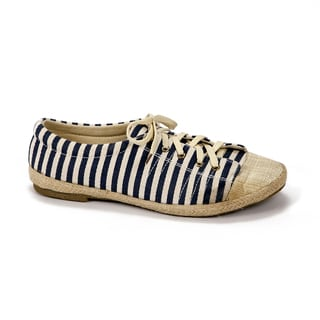 Muk Luks Women's 'Paige' Navy Striped Canvas Sneakers