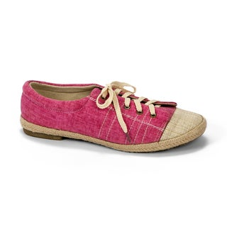 Muk Luks Women's 'Paige' Pink Canvas Sneakers